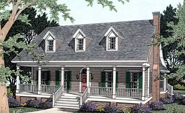 Cape Cod Country Elevation of Plan 40032
