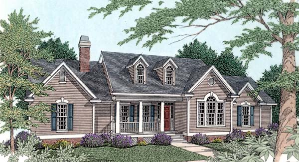 Country House Plan 40033 with 3 Beds , 3 Baths , 2 Car Garage Elevation