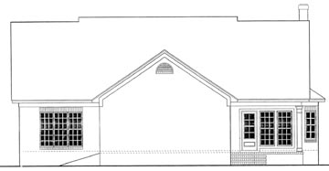 Cape Cod Country House Plan 40034 Rear Elevation