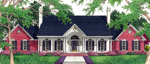 Colonial Traditional House Plan 40035 Elevation