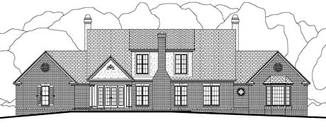 Colonial Traditional House Plan 40035 Rear Elevation