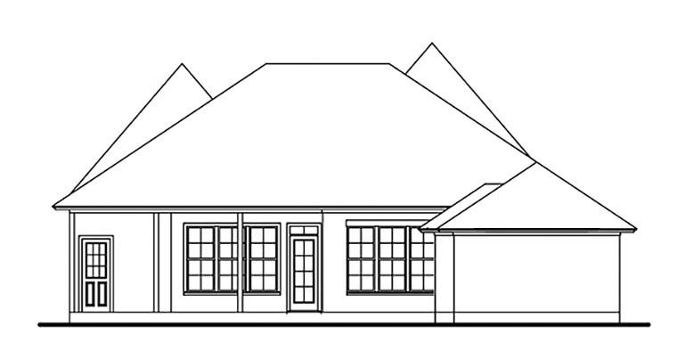 European Southern House Plan 40039 Rear Elevation