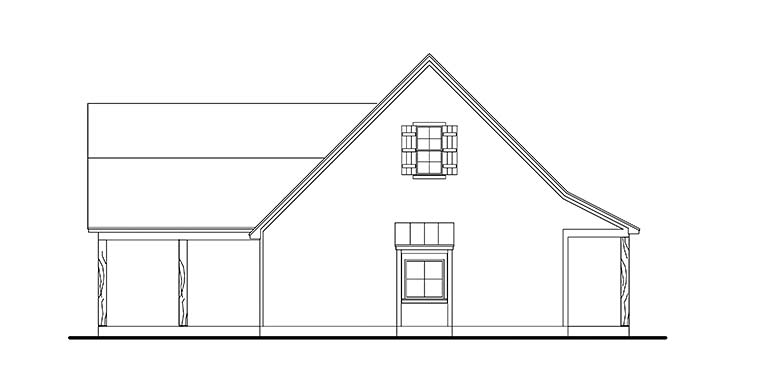 Cabin, Cottage, Country, Farmhouse, Southern, Traditional House Plan 40041 with 3 Beds, 2 Baths, 2 Car Garage Picture 2