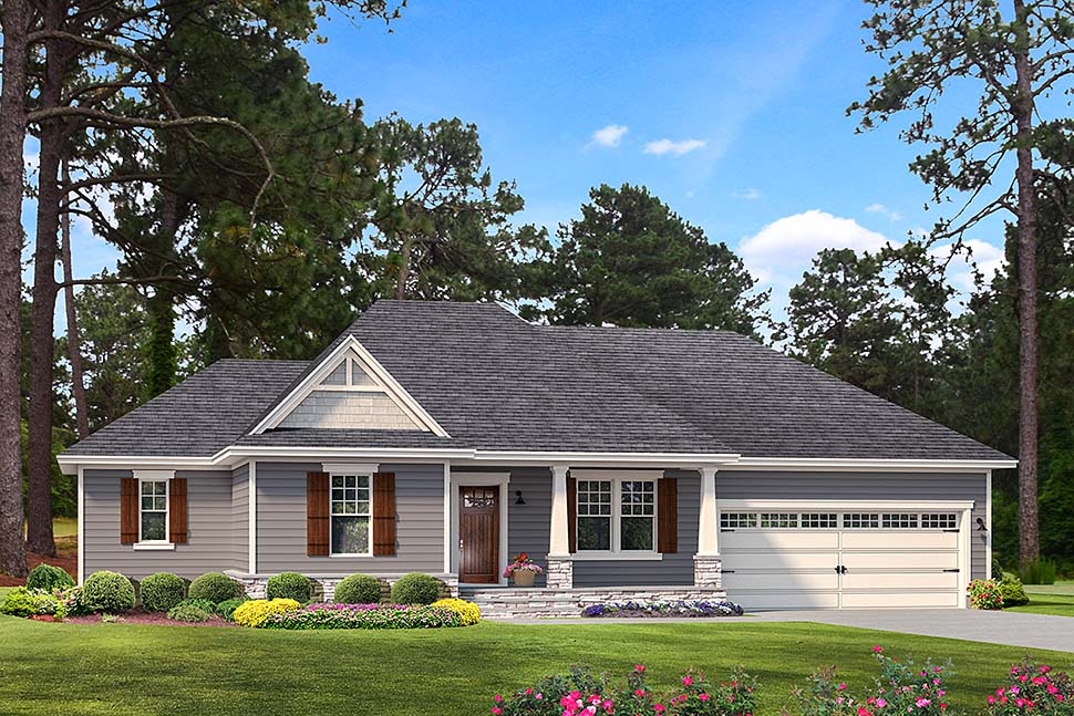 Cape Cod Cottage Country Craftsman Farmhouse Southern Traditional Elevation of Plan 40042
