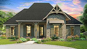 House Plan 40043 | Cottage Country Craftsman Southern Traditional Style Plan with 2298 Sq Ft, 4 Bedrooms, 3 Bathrooms, 2 Car Garage Elevation