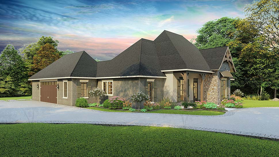 Cottage, Country, Craftsman, Southern, Traditional House Plan 40043 with 4 Beds, 3 Baths, 2 Car Garage Picture 2