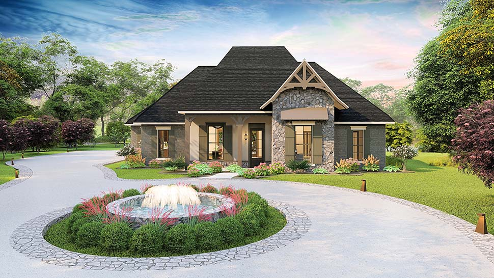 Cottage, Country, Craftsman, Southern, Traditional House Plan 40043 with 4 Beds, 3 Baths, 2 Car Garage Picture 3