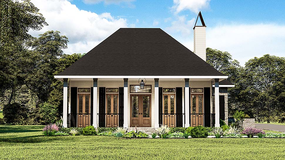 Cottage , Country , Southern , Traditional House Plan 40044 with 3 Beds, 2 Baths, 2 Car Garage Elevation