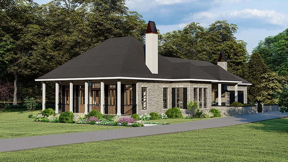 Cottage, Country, Southern, Traditional House Plan 40044 with 3 Beds, 2 Baths, 2 Car Garage Picture 1