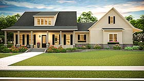 Cottage , Country , Farmhouse , Ranch , Southern , Traditional House Plan 40045 with 3 Beds, 2 Baths, 2 Car Garage Elevation