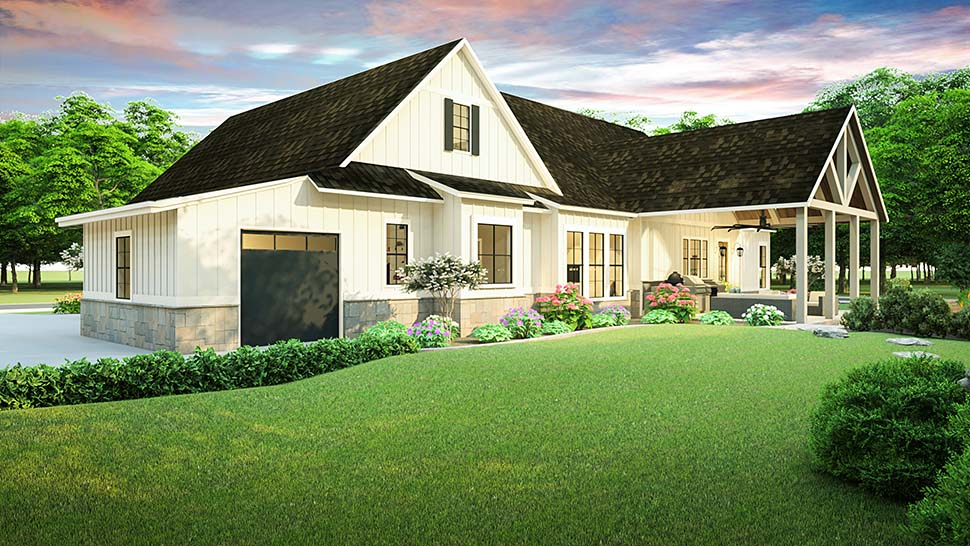 Cottage, Country, Farmhouse, Ranch, Southern, Traditional House Plan 40045 with 3 Beds, 2 Baths, 2 Car Garage Picture 4