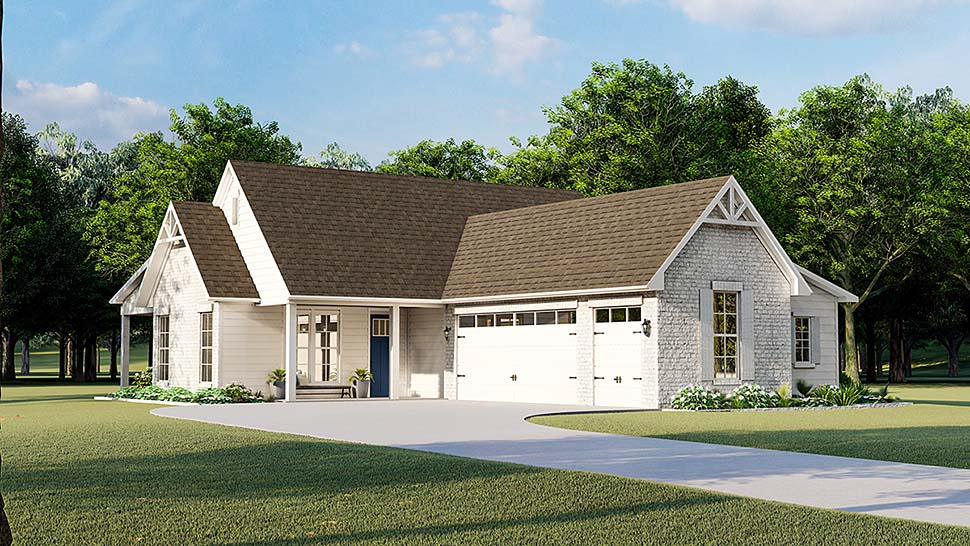 Cottage Country Farmhouse French Country Southern Traditional Elevation of Plan 40047