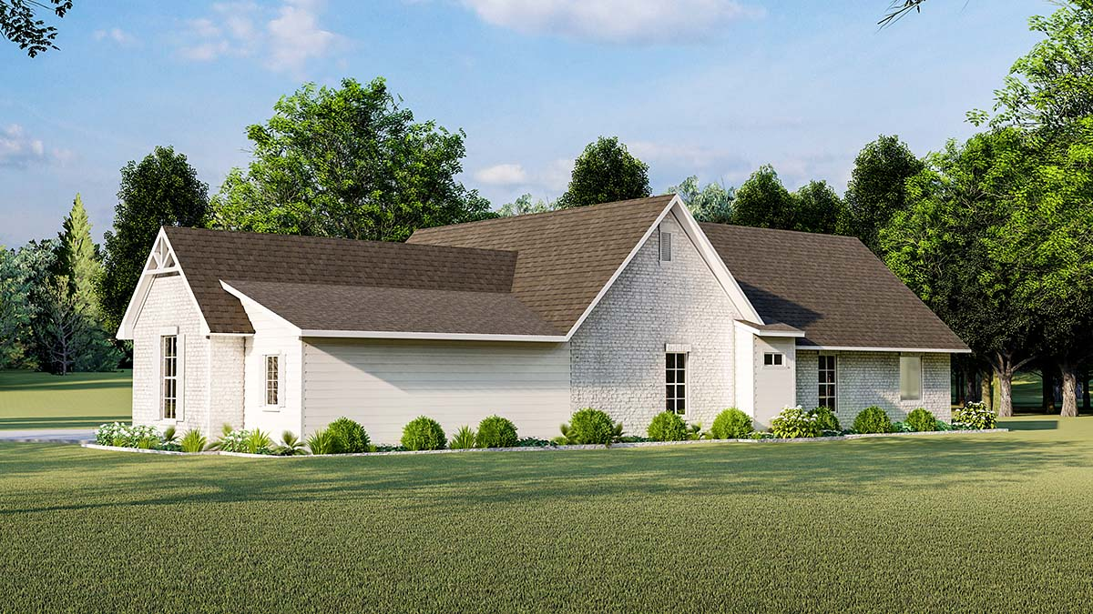 Cottage, Country, Farmhouse, French Country, Southern, Traditional House Plan 40047 with 3 Beds, 2 Baths, 2 Car Garage Picture 1