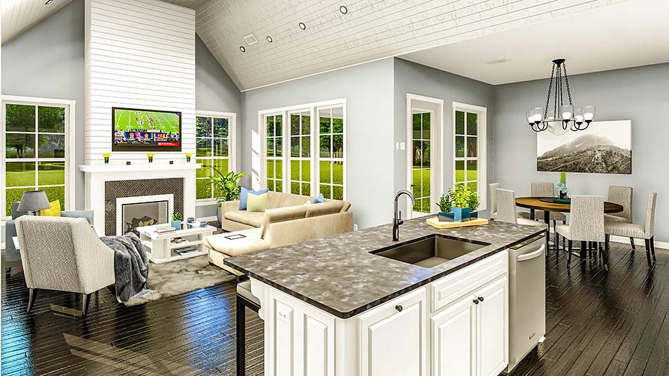 Cottage, Country, Farmhouse, French Country, Southern, Traditional House Plan 40047 with 3 Beds, 2 Baths, 2 Car Garage Picture 11