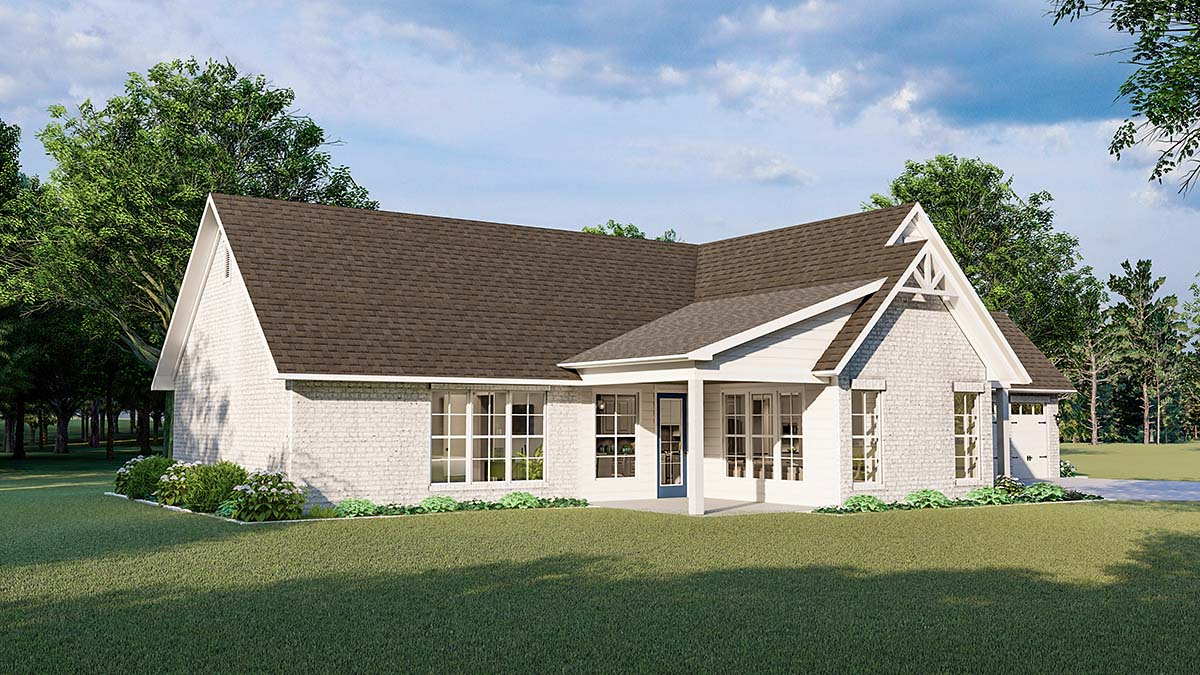 Cottage, Country, Farmhouse, French Country, Southern, Traditional House Plan 40047 with 3 Beds, 2 Baths, 2 Car Garage Picture 2