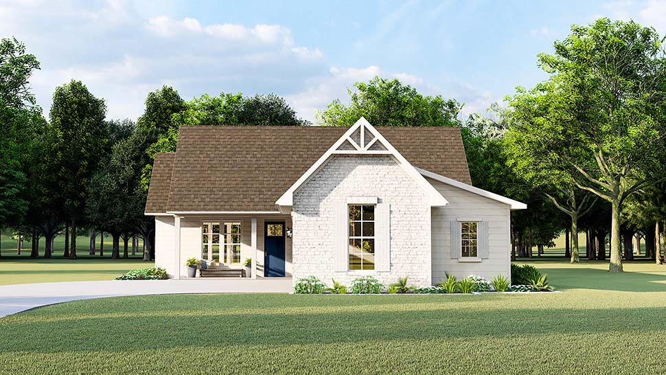 Cottage, Country, Farmhouse, French Country, Southern, Traditional House Plan 40047 with 3 Beds, 2 Baths, 2 Car Garage Picture 3