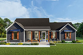 Traditional , Southern , Ranch , Farmhouse , Craftsman , Country , Cottage House Plan 40048 with 3 Beds, 2 Baths, 2 Car Garage Elevation