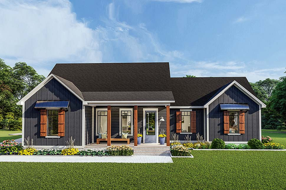 Cottage , Country , Craftsman , Farmhouse , Ranch , Southern , Traditional House Plan 40048 with 3 Beds, 2 Baths, 2 Car Garage Elevation