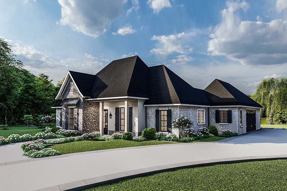 Country, Craftsman, European, Farmhouse, Southern, Traditional House Plan 40049 with 4 Beds, 3 Baths, 2 Car Garage Picture 3