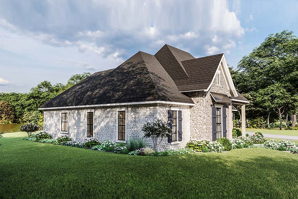 Country, Craftsman, European, Farmhouse, Southern, Traditional House Plan 40049 with 4 Beds, 3 Baths, 2 Car Garage Picture 4