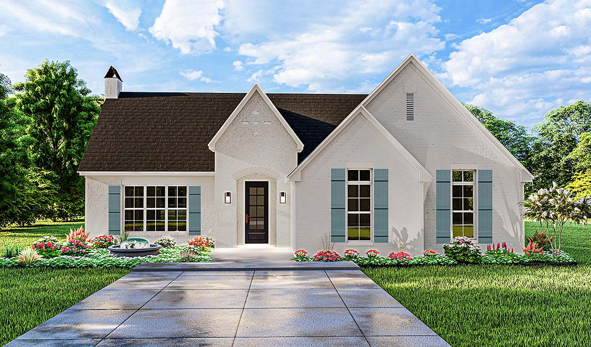Cottage, Traditional House Plan 40050 with 3 Beds, 2 Baths, 2 Car Garage Elevation