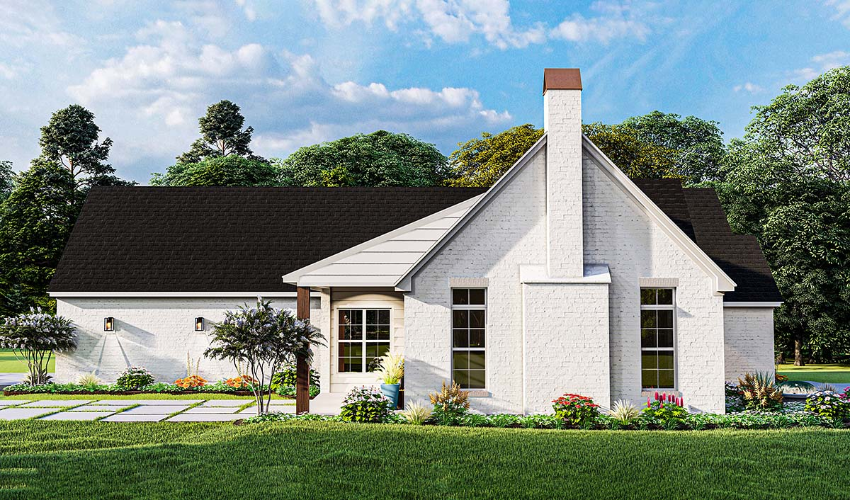 Cottage, Traditional House Plan 40050 with 3 Beds, 2 Baths, 2 Car Garage Picture 2