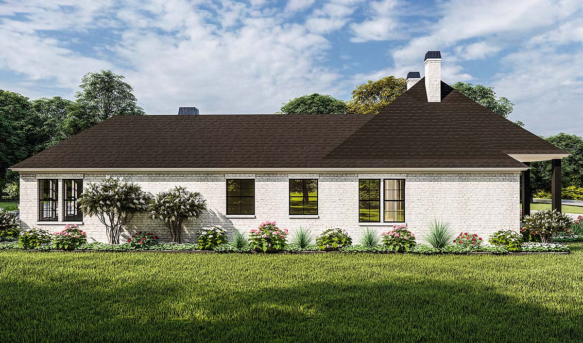 Country, Farmhouse, French Country, Southern, Traditional House Plan 40051 with 4 Beds, 3 Baths, 2 Car Garage Picture 2