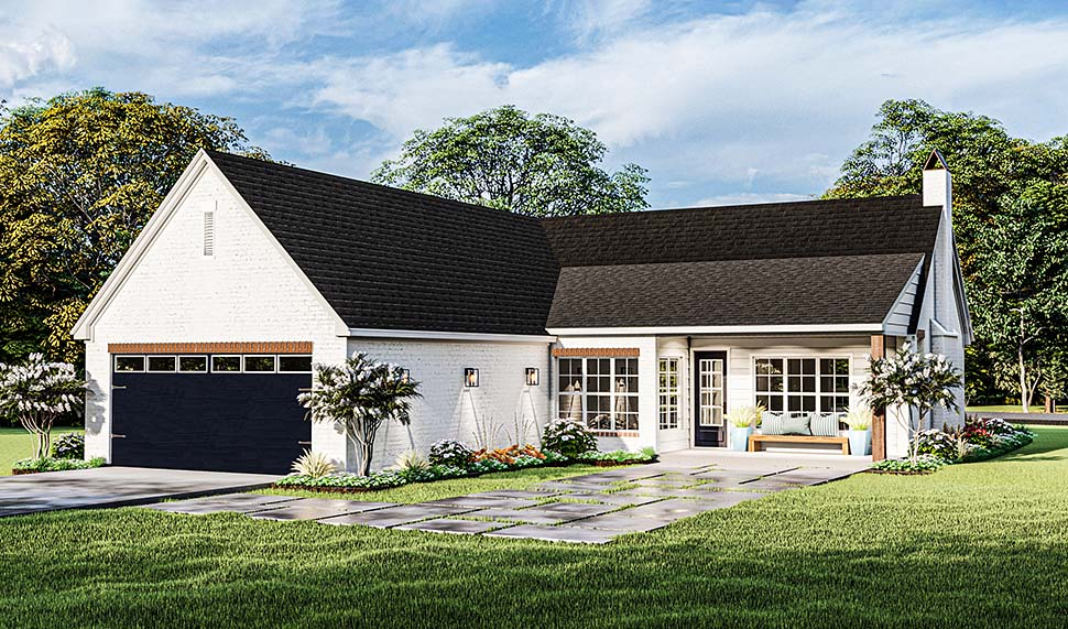 Cottage, French Country, Ranch House Plan 40052 with 3 Beds, 2 Baths, 2 Car Garage Picture 4