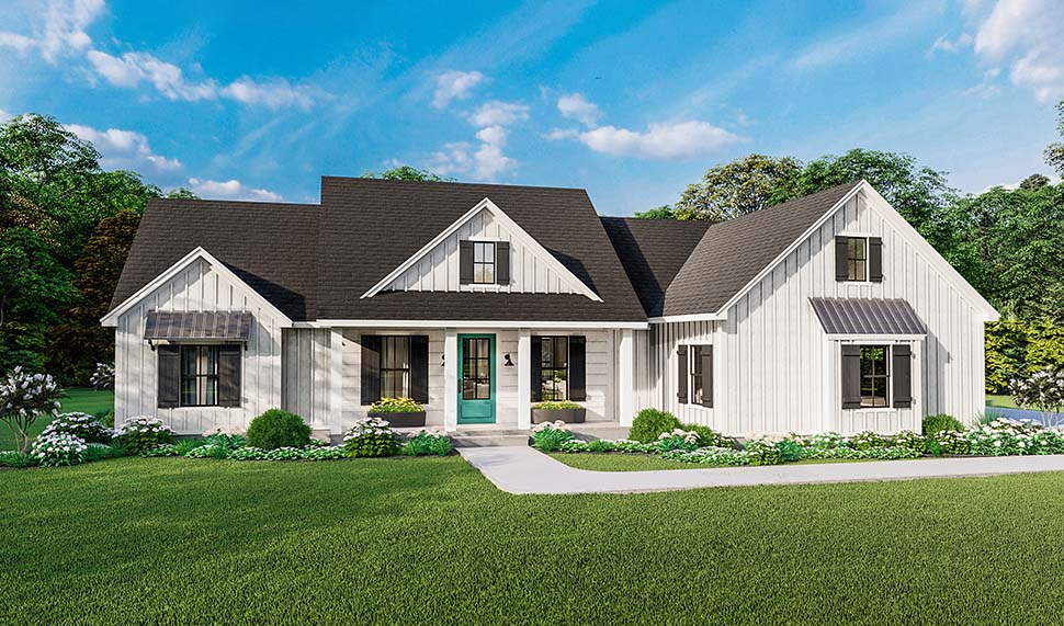 Country, Farmhouse, Ranch, Southern House Plan 40053 with 4 Beds, 2 Baths, 2 Car Garage Picture 3