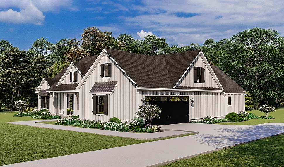 Country, Farmhouse, Ranch, Southern House Plan 40053 with 4 Beds, 2 Baths, 2 Car Garage Picture 4