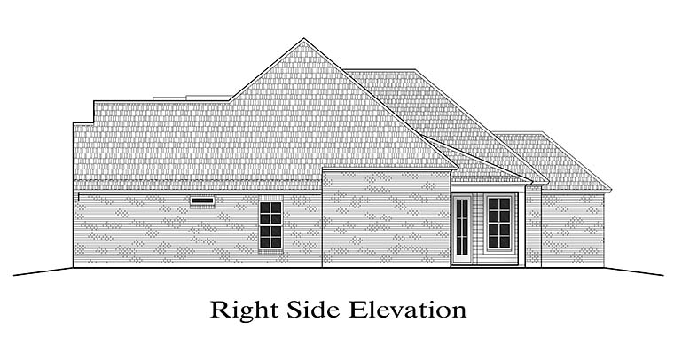 European, French Country House Plan 40303 with 3 Beds, 2 Baths, 2 Car Garage Picture 2