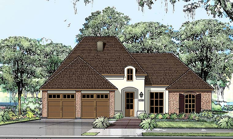 European, French Country House Plan 40304 with 3 Beds , 2 Baths , 2 Car Garage Elevation