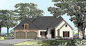 House Plan 40305 | European Southern Traditional Style Plan with 1826 Sq Ft, 3 Bedrooms, 2 Bathrooms, 2 Car Garage Elevation