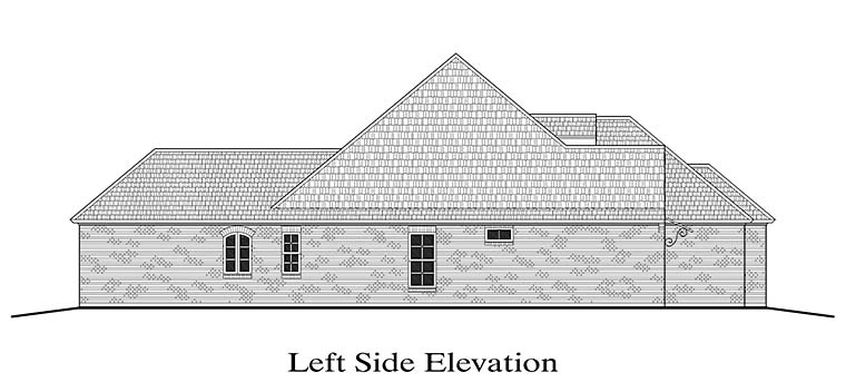 French Country, Southern House Plan 40306 with 3 Beds, 2 Baths, 2 Car Garage Picture 1