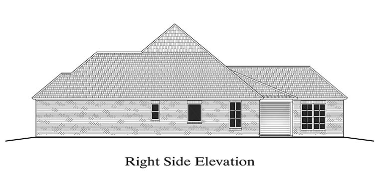 French Country, Southern House Plan 40306 with 3 Beds, 2 Baths, 2 Car Garage Picture 2