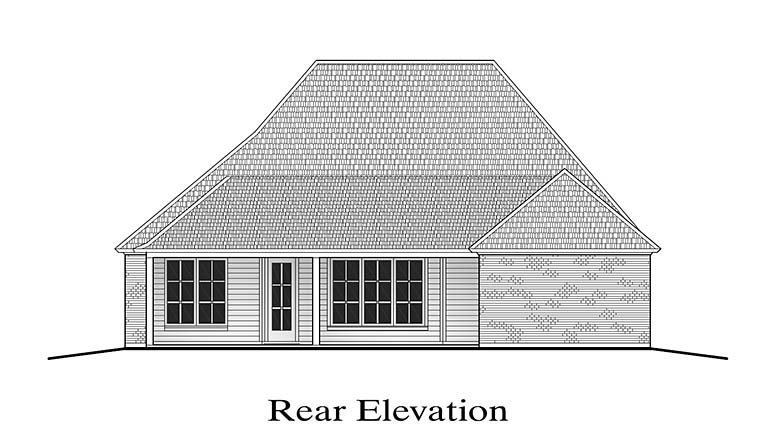 French Country Southern House Plan 40306 Rear Elevation