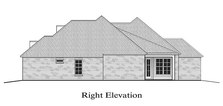 European, French Country House Plan 40307 with 3 Beds, 2 Baths, 2 Car Garage Picture 2
