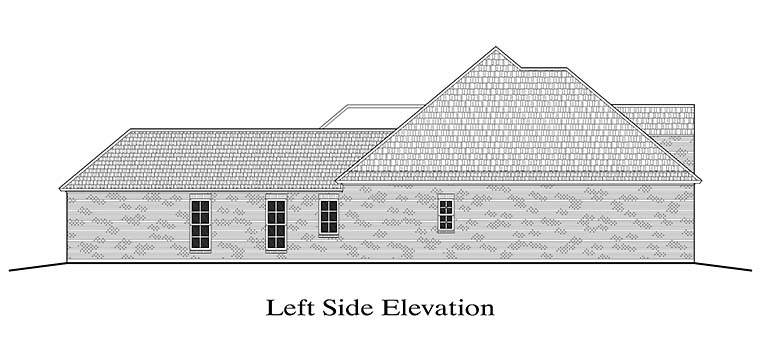 European, French Country, Southern House Plan 40308 with 4 Beds, 2 Baths, 2 Car Garage Picture 1
