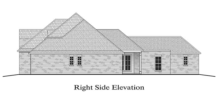European, French Country, Southern House Plan 40308 with 4 Beds, 2 Baths, 2 Car Garage Picture 2