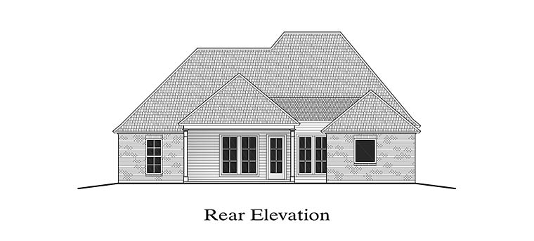 European French Country Southern House Plan 40308 Rear Elevation
