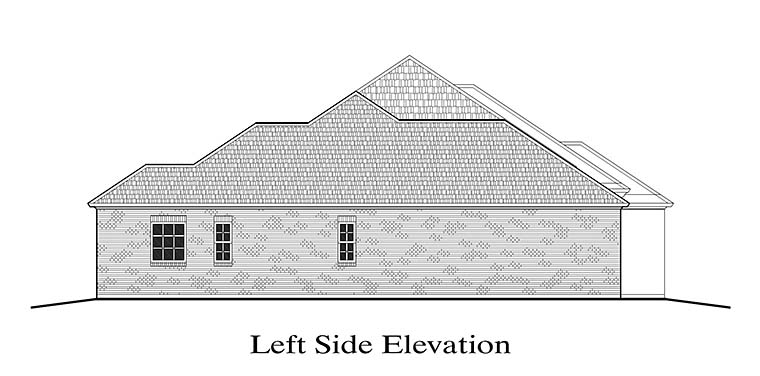 European, French Country, Southern House Plan 40309 with 4 Beds, 3 Baths, 2 Car Garage Picture 1