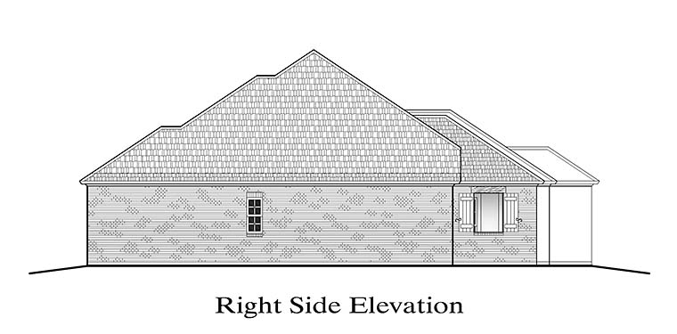 European, French Country, Southern House Plan 40309 with 4 Beds, 3 Baths, 2 Car Garage Picture 2