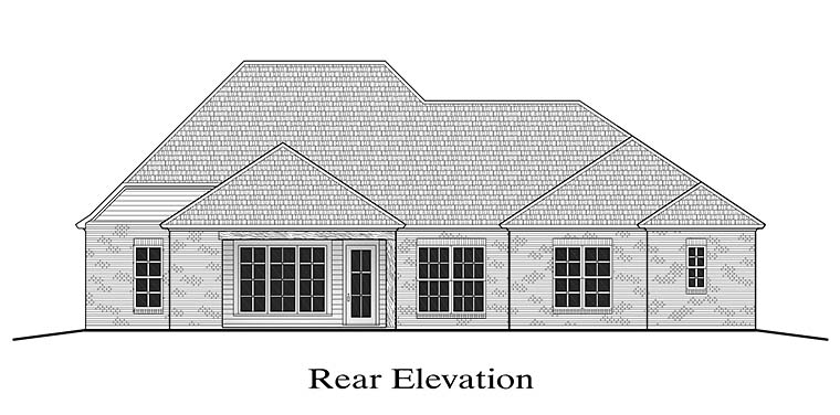 European French Country Southern House Plan 40309 Rear Elevation
