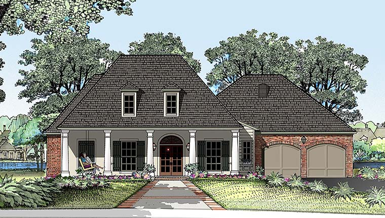 Colonial French Country Southern House Plan 40310 Elevation