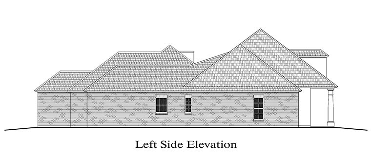 Colonial, French Country, Southern House Plan 40310 with 4 Beds, 3 Baths, 2 Car Garage Picture 1