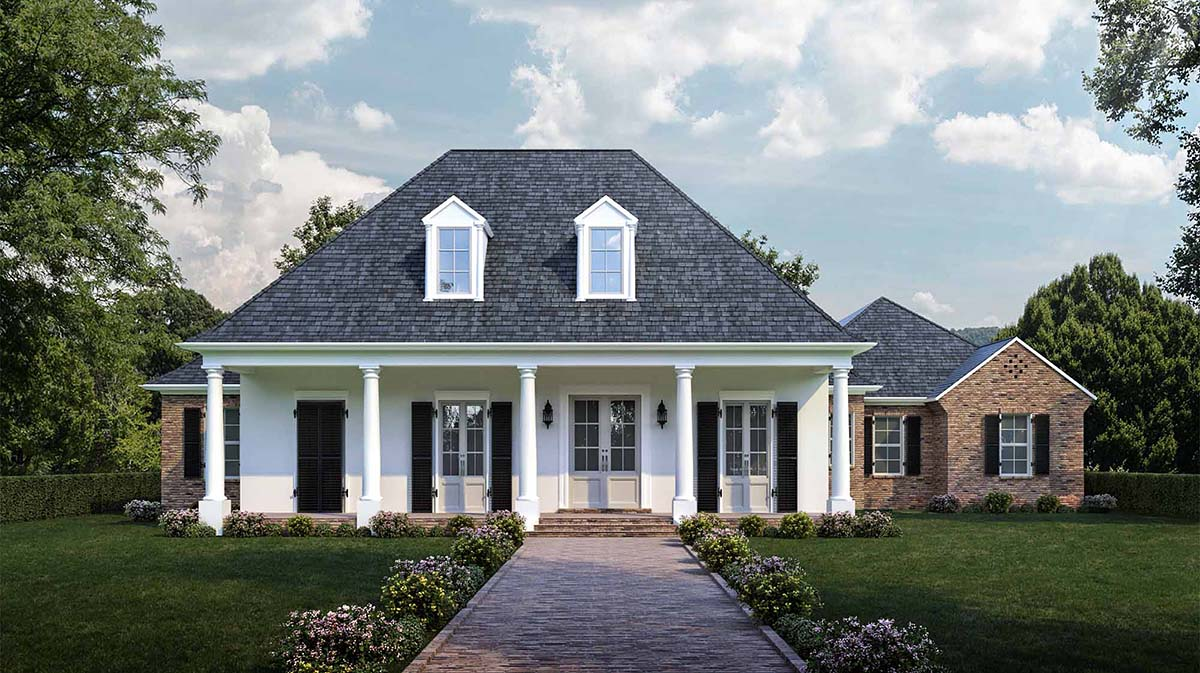 Colonial , French Country , Southern House Plan 40311 with 4 Beds, 3 Baths, 3 Car Garage Elevation