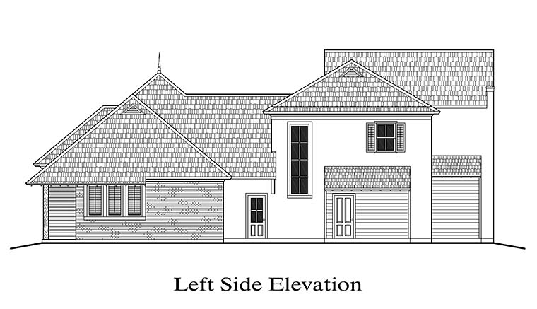 European, French Country, Southern, Southwest House Plan 40313 with 4 Beds, 4 Baths, 2 Car Garage Picture 1