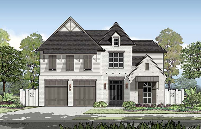European, French Country, Southern House Plan 40314 with 4 Beds, 4 Baths, 2 Car Garage Picture 3