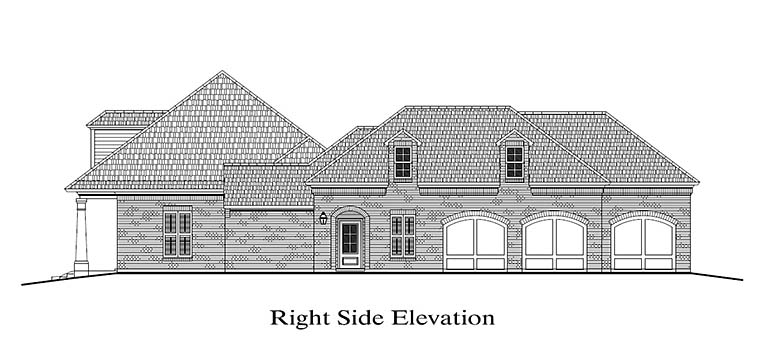 Colonial, Florida, Southern House Plan 40315 with 4 Beds, 4 Baths, 3 Car Garage Picture 2