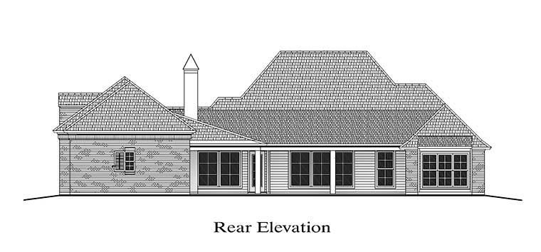 Colonial Florida Southern House Plan 40315 Rear Elevation